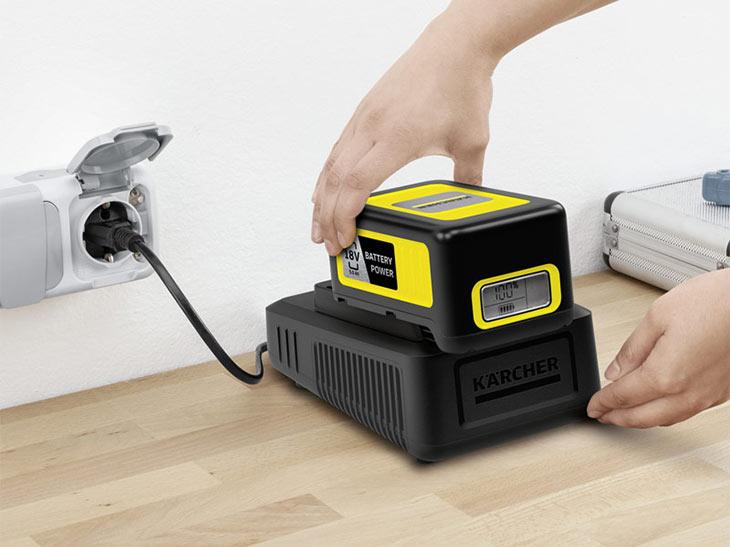 Быстрозарядное устройство Karcher Fast Charger Battery Power 18 V