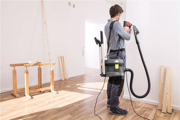 Применение пылесоса Karcher T 8/1 L при ремонте квартиры