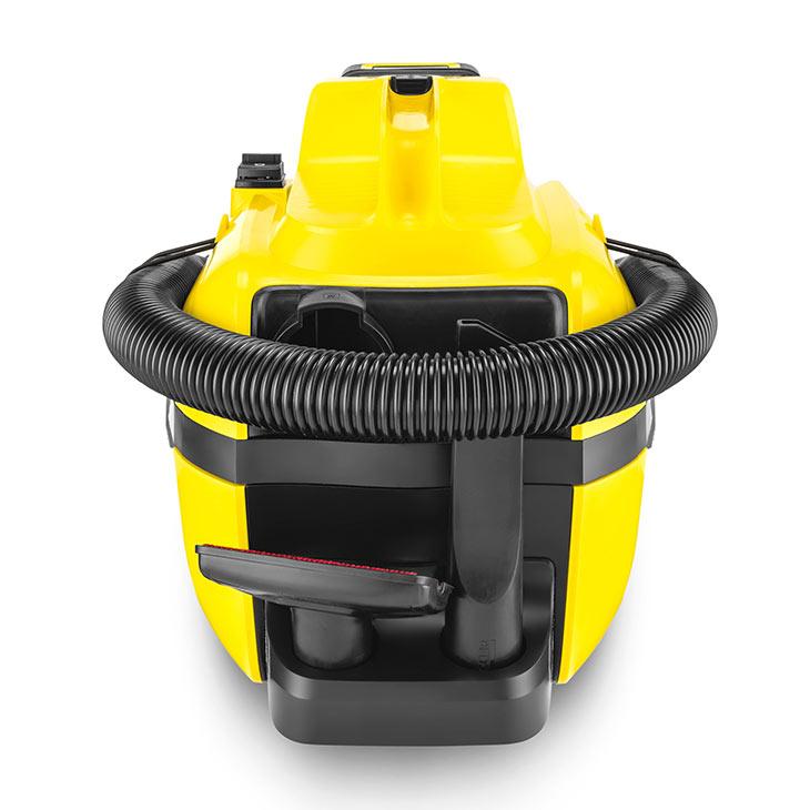 Хранение шланга и аксессуаров у Karcher WD 1 Compact Battery